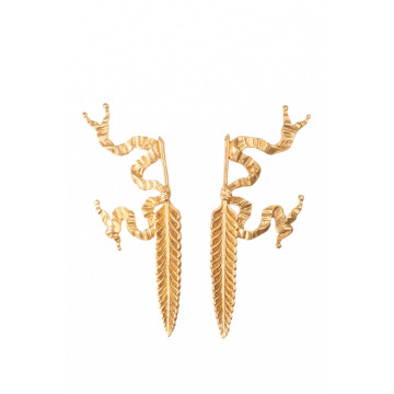 EARRINGS PLUME D'OIE